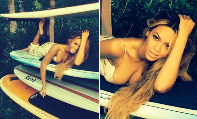 """La cantante publicó en Instagram fotos suyas posando muy sexy y otras con su esposo; ambos disfrutando un atardecer en algún destino cercano a la próxima parada de su gira """"On The Run Tour""""."""