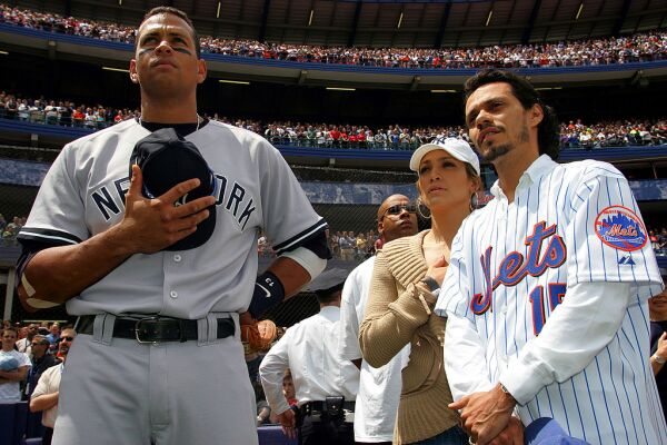 A-Rod, J.Lo y Marc Anthony