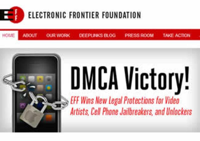 El grupo que solicitó y respaldó las exenciones, Electronic Frontier Foundation, celebró este lunes su victoria. (Foto: Especial)