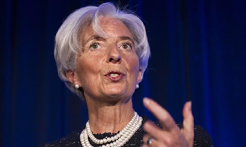 Lagarde se dijo optimista respecto a que los legisladores de EU alcancen un plan. (Foto: AP)