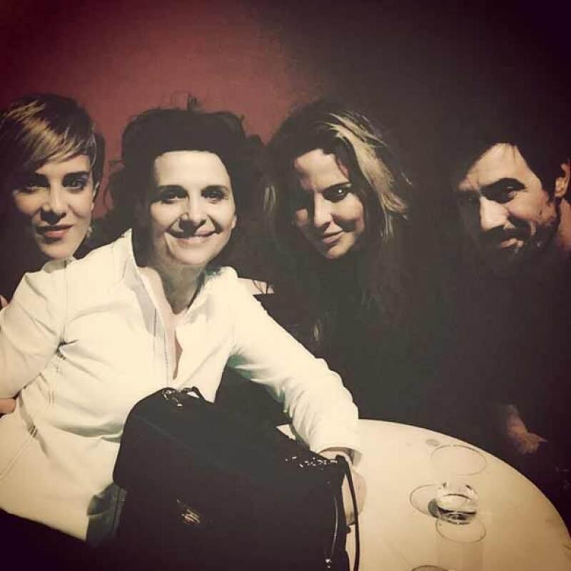Kate del Castillo junto a la reconocida actriz Juliette Binoche.