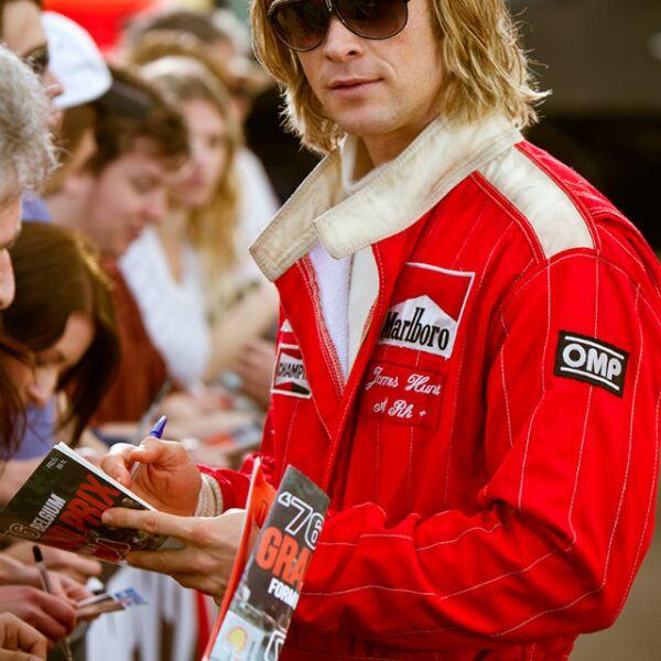 Chris Hemsworth como un famoso corredor de autos en Rush.