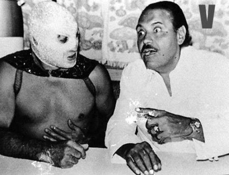 Gaspar Henaine trabajó en el cine junto a la leyenda de la lucha libre El Santo, el enmascarado de plata.