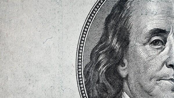Dollars closeup.