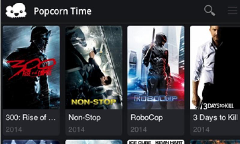 Popcorn Time fue retirada de la tienda Google Play horas después de su debut. (Foto: tomada de Twitter @popcorntimetv)