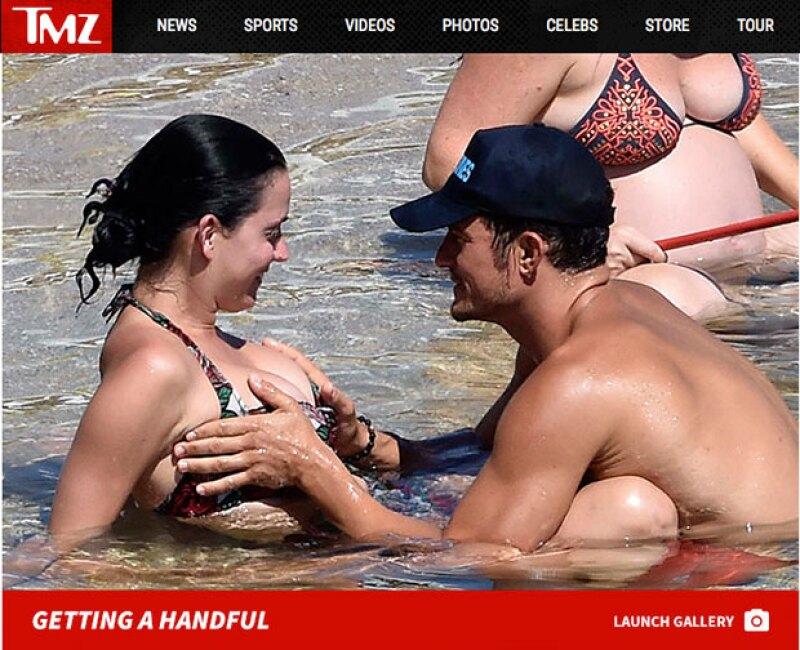 El actor se dejó ver más que cariñoso con su novia en una playa pública.
