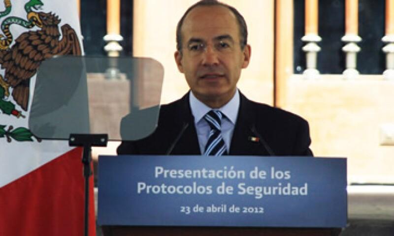 """Felipe Calderón, presidente de México, pronunciará la cátedra """"Henry Kissinger"""" en la Biblioteca del Congreso de los Estados Unidos. (Foto: De Presidencia de la República)"""