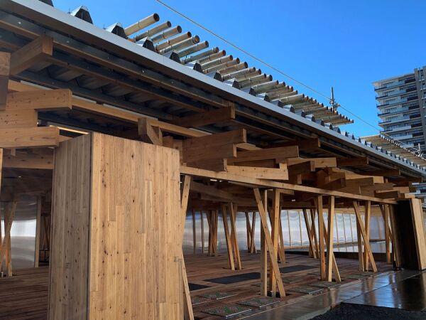 villa olímpica de Tokio - madera - villa sustentable