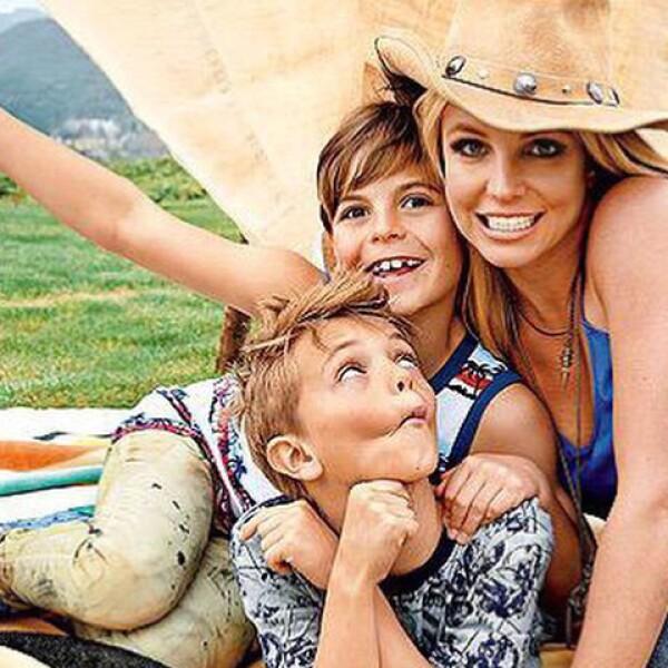 Britney SPears junto a sus dos hijos