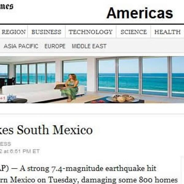 Portales temblor NYT