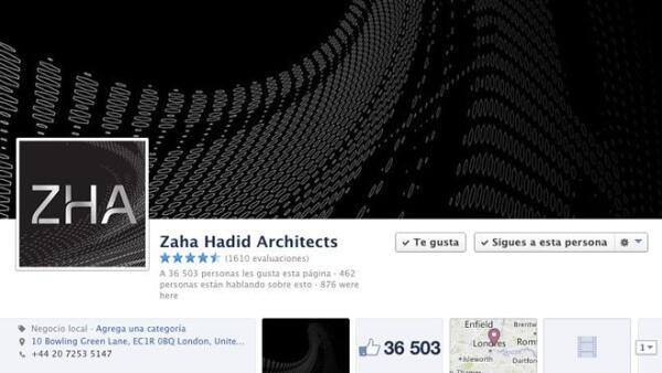 Zaha Hadid Facebook