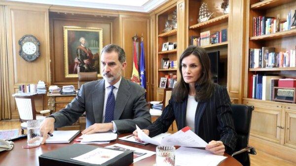 Rey Felipe VI y la reina Letizia de España