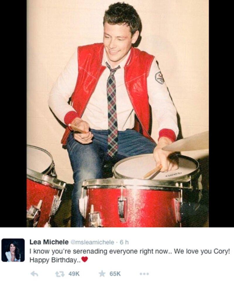 Con esta foto fue como Lea recordó el cumpleaños de Cory.