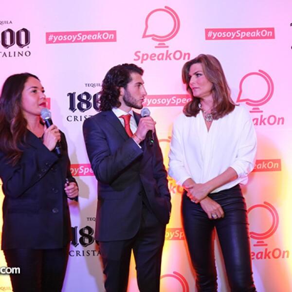 Yolanda Andrade,Carlos Gotlib y Montserrat Oliver