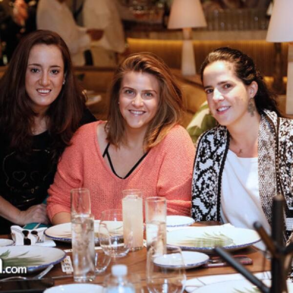 Andrea Creel, Cristina Fernandez y Yokine Noriega