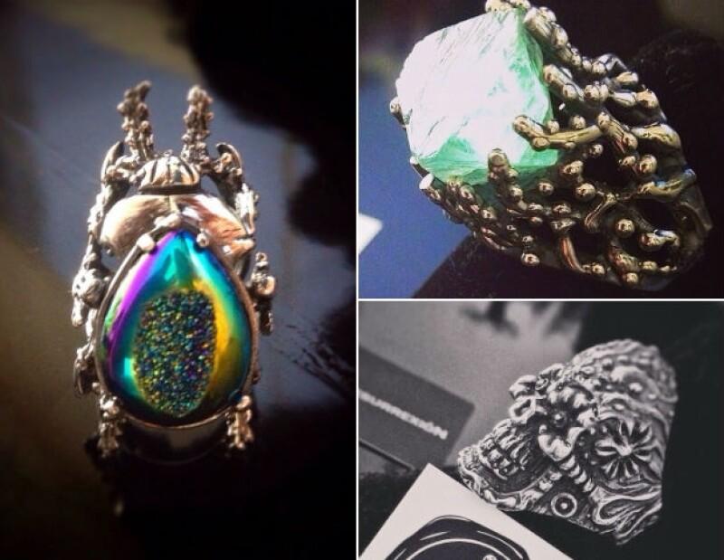 Los anillos son hechos en plata y pueden conseguirse en Ocho Store y en las redes sociales de la marca.
