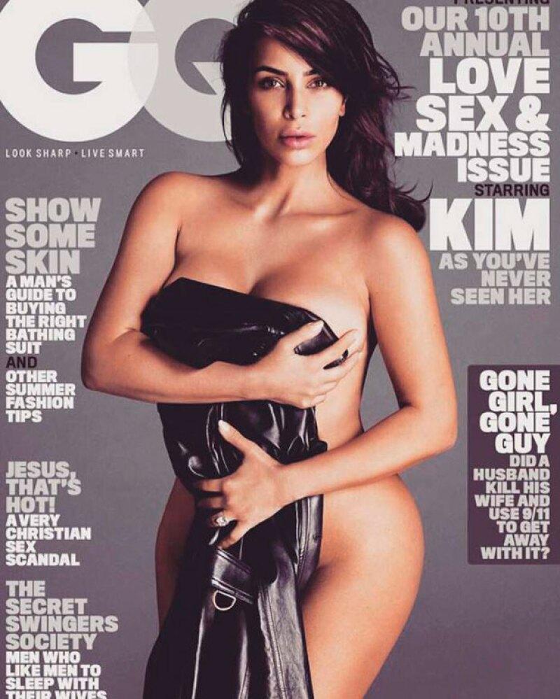 Kim es la más reciente cara de la portada de GQ Magazine