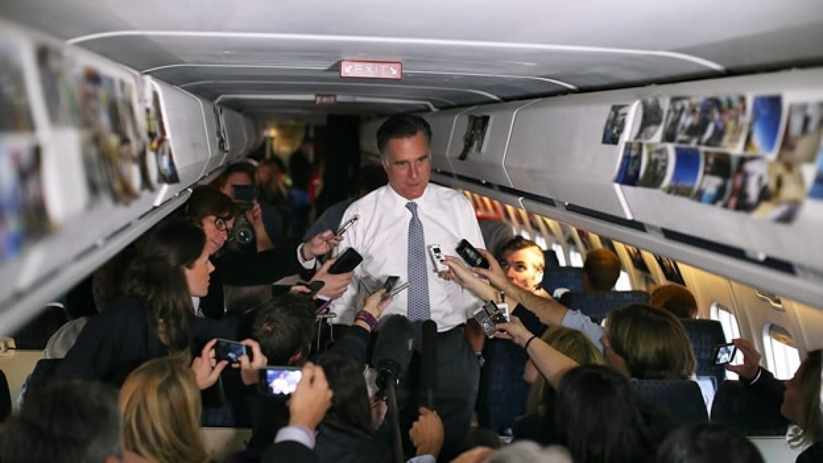 romney avion discurso