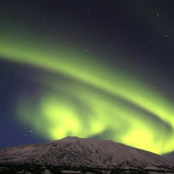 Auroras boreales en el hemisferio norte