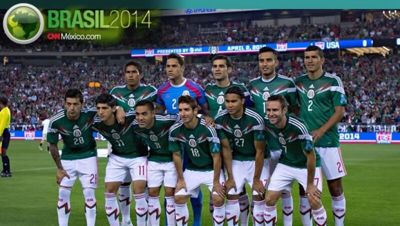 El cuadro que presentó la selección mexicana de futbol el 2 de abril ante Estados Unidos en Arizona