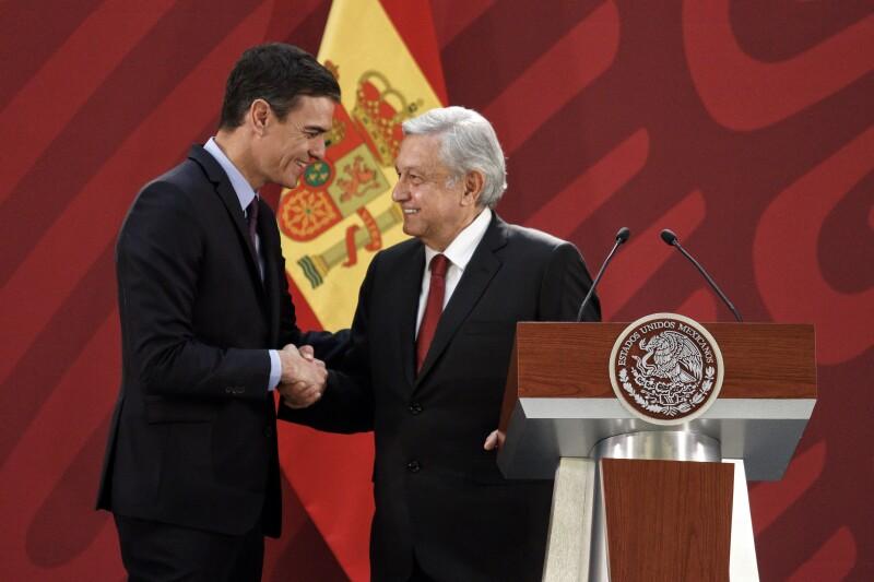 Pedro Sánchez y AMLO