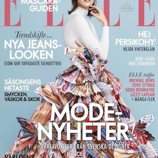 Frida Gustavsson fue retratada por Jimmy Backius para la portada de ELLE Suecia.