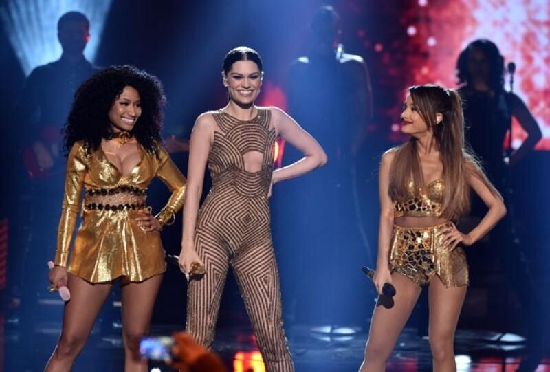 Nicki Minaj, Jessie J y Ariana Grande protagonizaron el performance más enérgico de la noche.