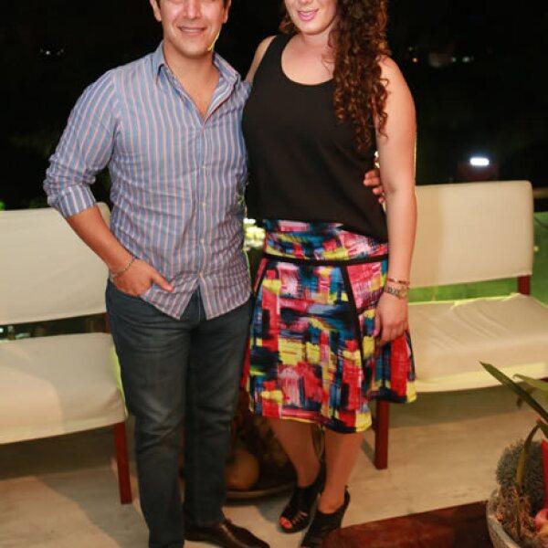 Alejandro de León y Nicole Chalita