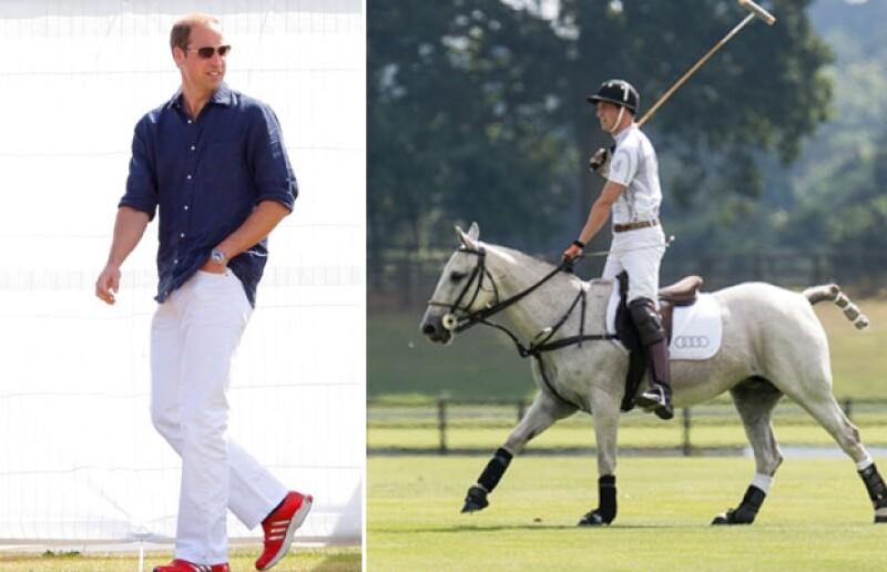 Tras enfrentar un partido de polo con fines altruistas, el heredero al trono británico aseguró que actualmente sólo piensa en pañales.