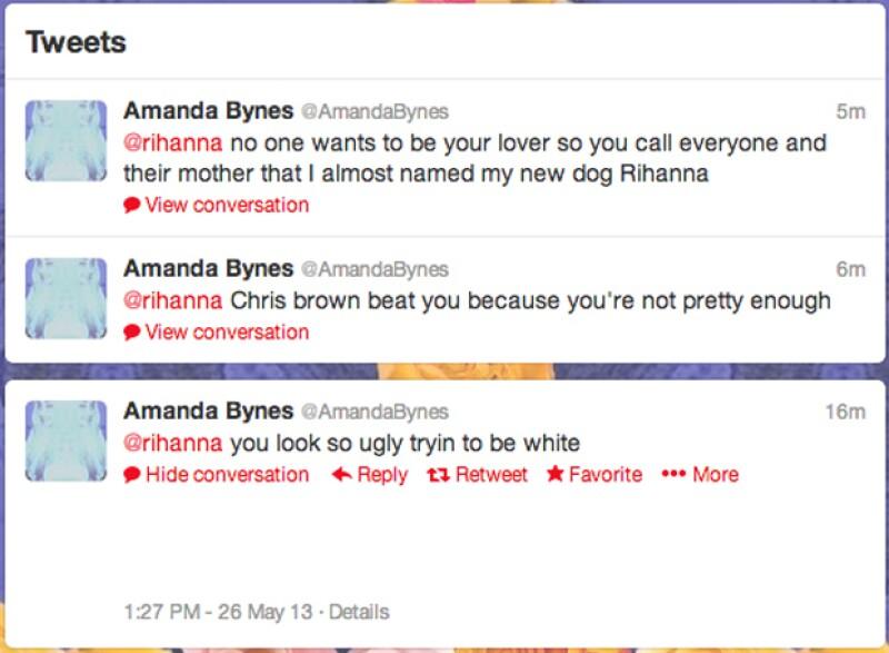 Amanda Bynes y su inesperado ataque en redes a Rihanna.