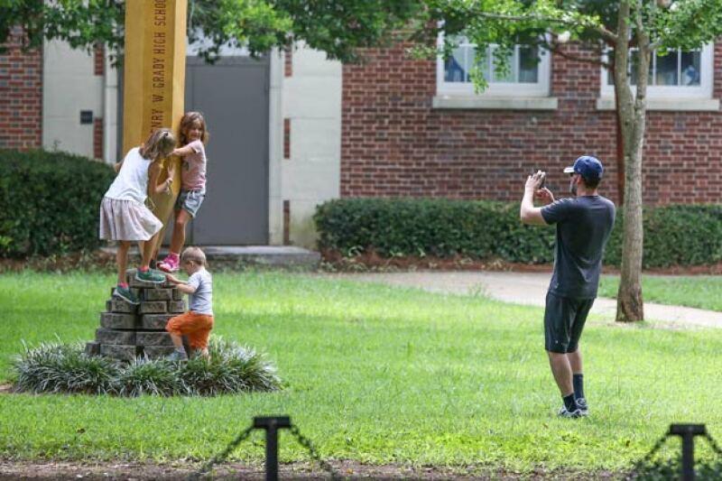 Ben fue el que pareció disfrutar más de este momento, pues incluso le tomó fotografía a sus tres pequeños.