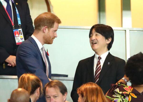 Príncipe Harry en Japón en la final de la Copa Mundial de Rugby