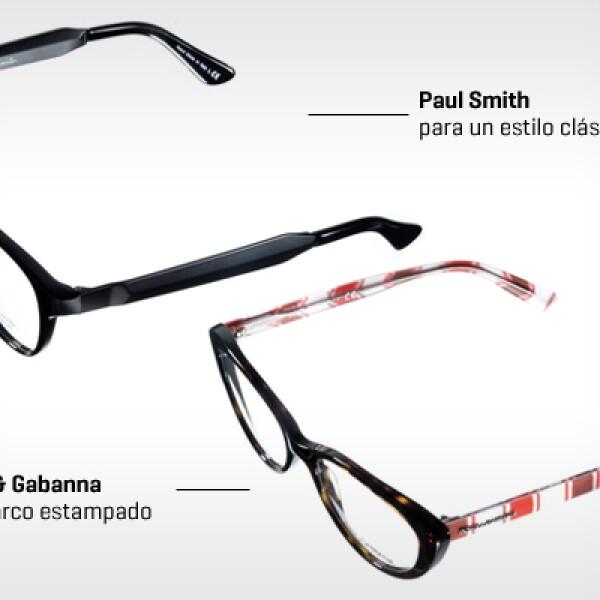 Si prefieres usar los mismos lentes para cualquier ocasión y tu estilo es clásico, elige armazones en tonos oscuros, como café o negro. Pero si quieres verte actual sin perder el look profesional, ponte lentes con un marco estampado.