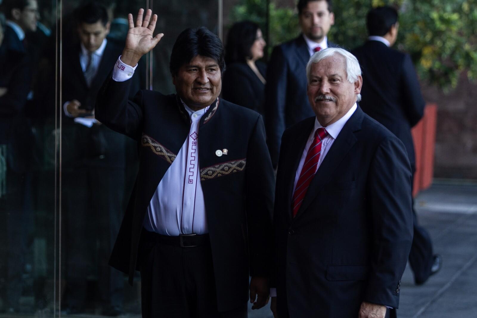 Arriba Evo Morales a Palacio Legislativo de San Lázaro