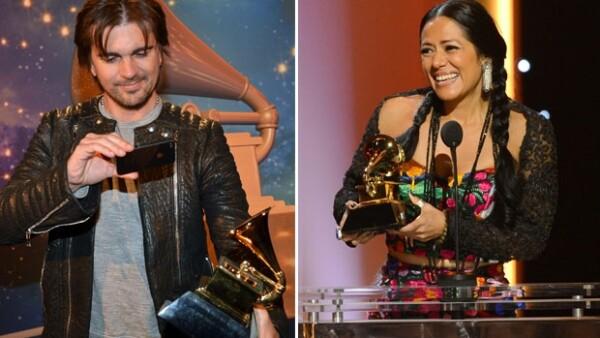 El colombiano ganó su segundo premio, y una emotiva Lila Downs derramó lágrimas al aceptar el suyo, al mejor álbum de música regional mexicana.