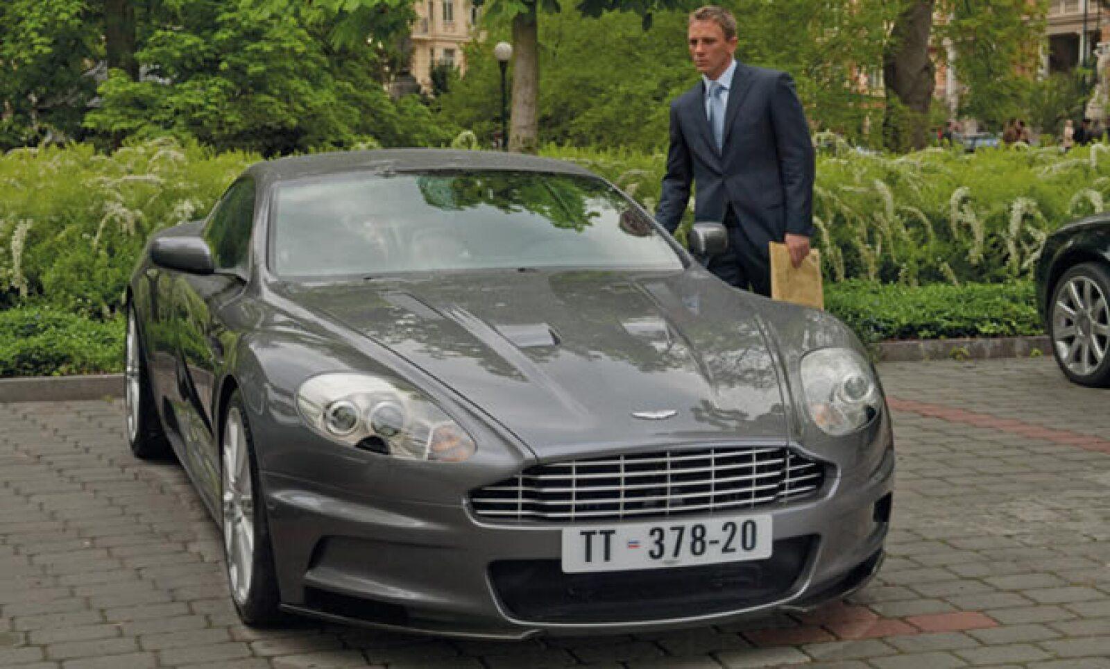 Para la cinta 'Quantum of Solace', se utilizó el nuevo modelo DS de Aston Martin, capaz de superar los 300 kilómetros por hora.