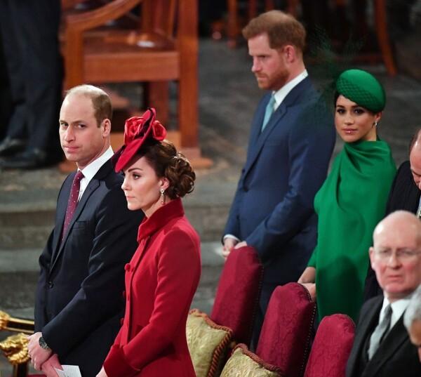 Príncipe Harry, Meghan Markle, príncipe William y Kate Middleton