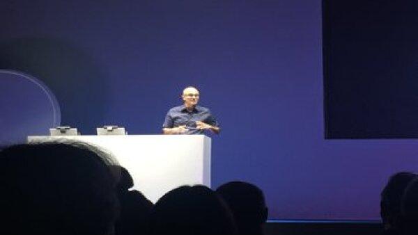 El CEO de Microsoft dio su primera conferencia en México. (Foto: Gabriela Chávez )