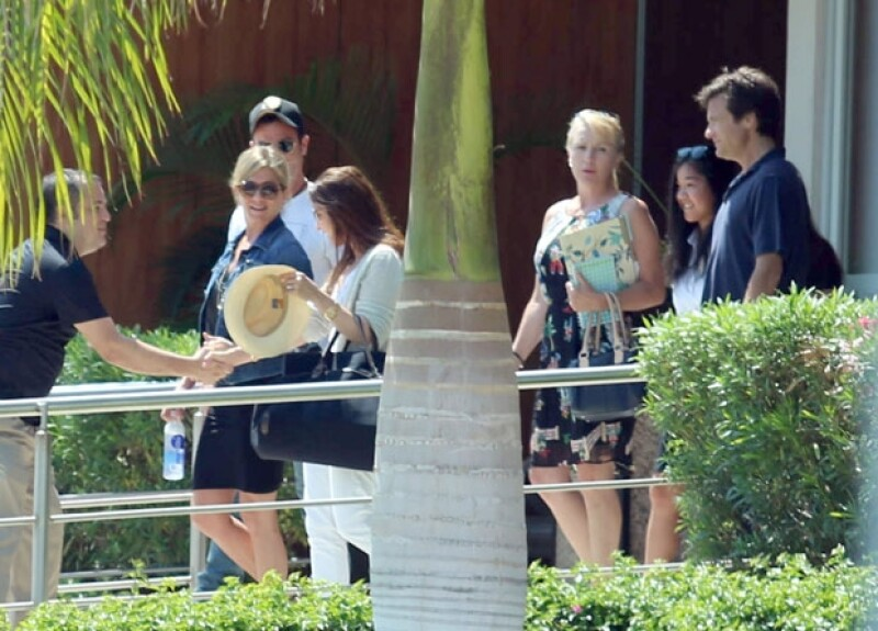 Así fue captada la actriz a su llegada a México.