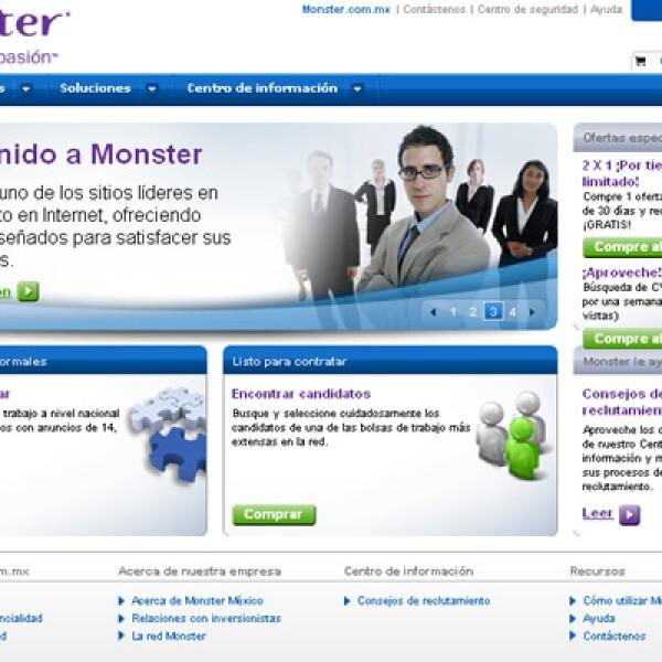 Monster.com que también pertenece a la categoría 'B to B', es una plataforma de e-Commerce que proporciona servicios de reclutamiento a las empresas.