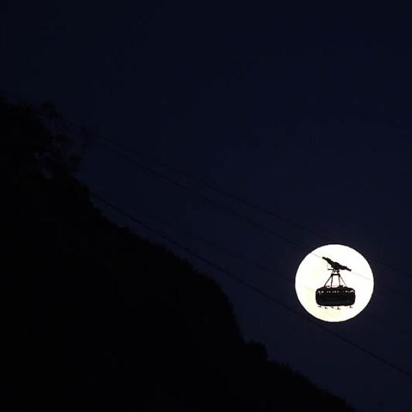 Superluna Brasil teleferico Pan Azucar