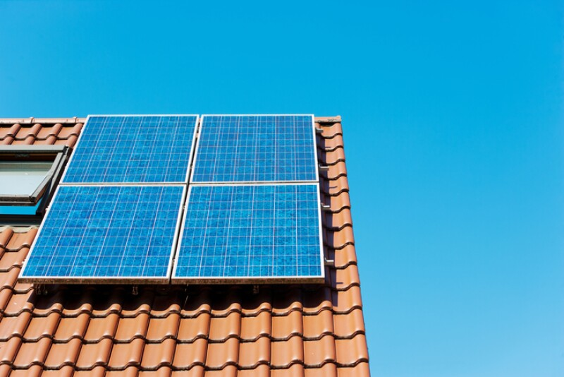 paneles solares techo