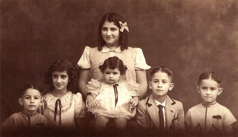 LA FAMILIA SLIM HELÚ. Los hermanos Carlos, Alma, Nour, Linda, Julián y José.