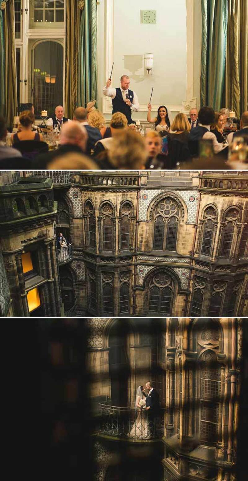 La boda se llevó a cabo en el Hotel Manchester Town Hall