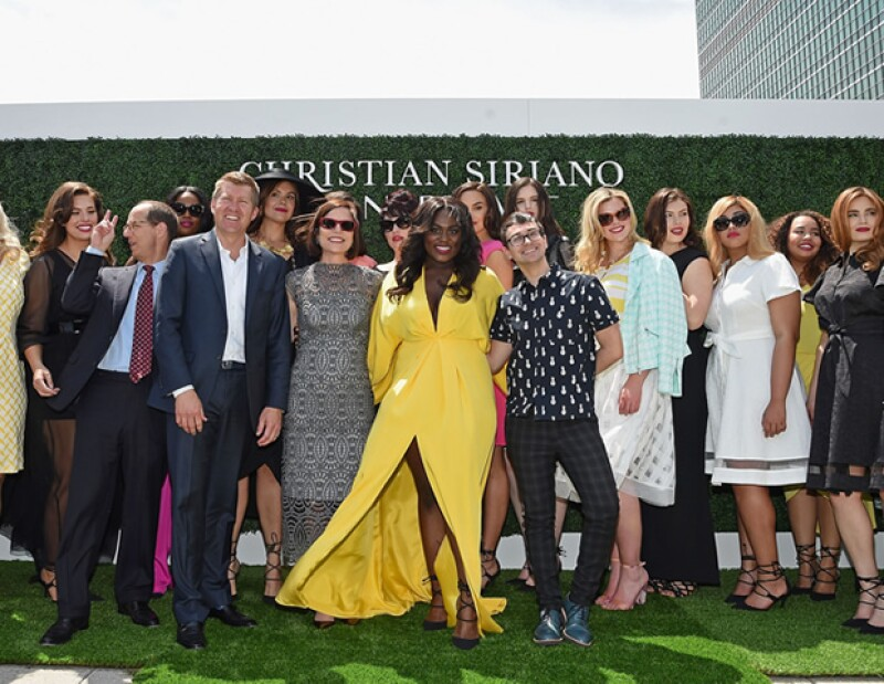 Christian Siriano creó 18 piezas junto al diseñador de ropa plus-size, Lane Bryant.