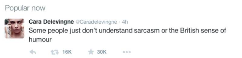 Cara tuiteó para defenderse de los comentarios negativos que recibió por parte de los hosts.