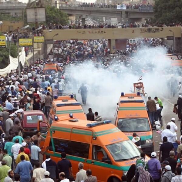 protesta violenta en el cairo