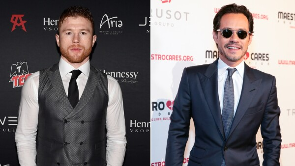 Canelo Álvarez y Marc Anthony