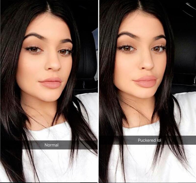 La hija de Kris Jenner reveló que el secreto del tamaño de su boca esta en el gesto que hace, y añadió pruebas de dicho efecto. ¿Le creemos?