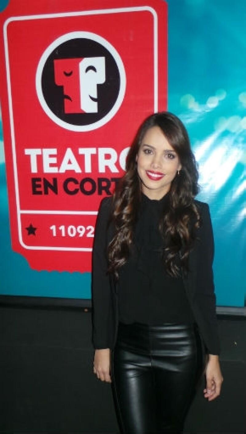 "Vanesa Restrepo, actriz de ""Threesome""."
